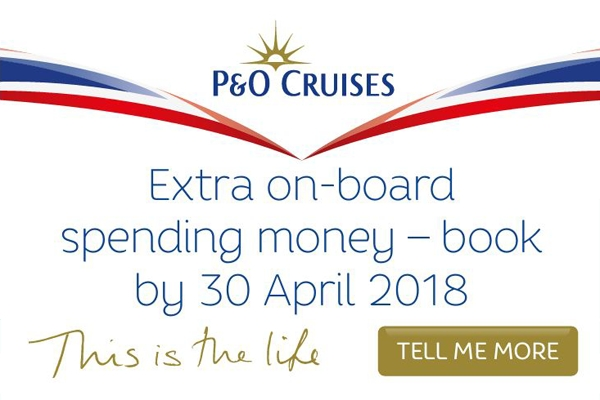 P and O 2018 cruise deals