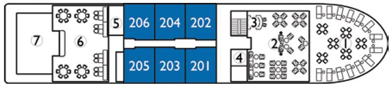Avalon Siem Reap-deckplan-Deck 1- Tonle Deck