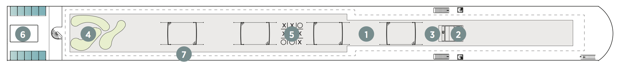Emerald Sun-deckplan-Sun Deck
