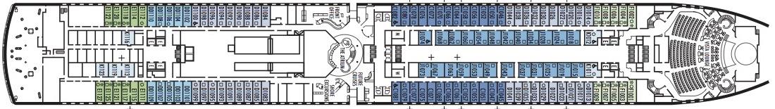 Noordam-deckplan-Deck 1