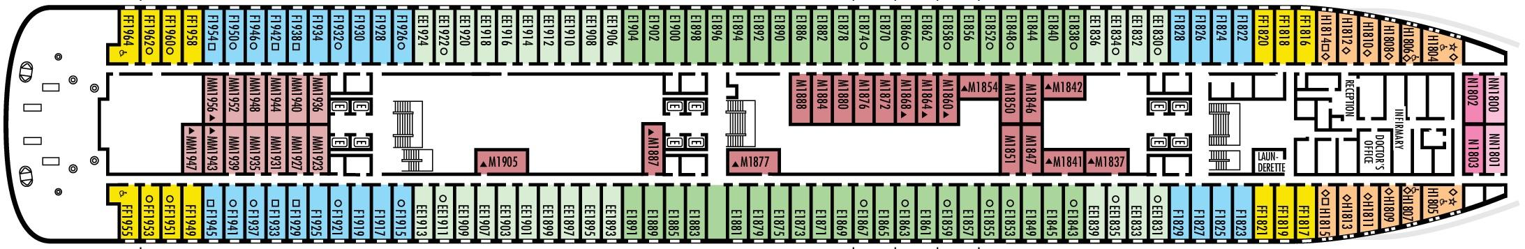 Volendam-deckplan-Deck 1