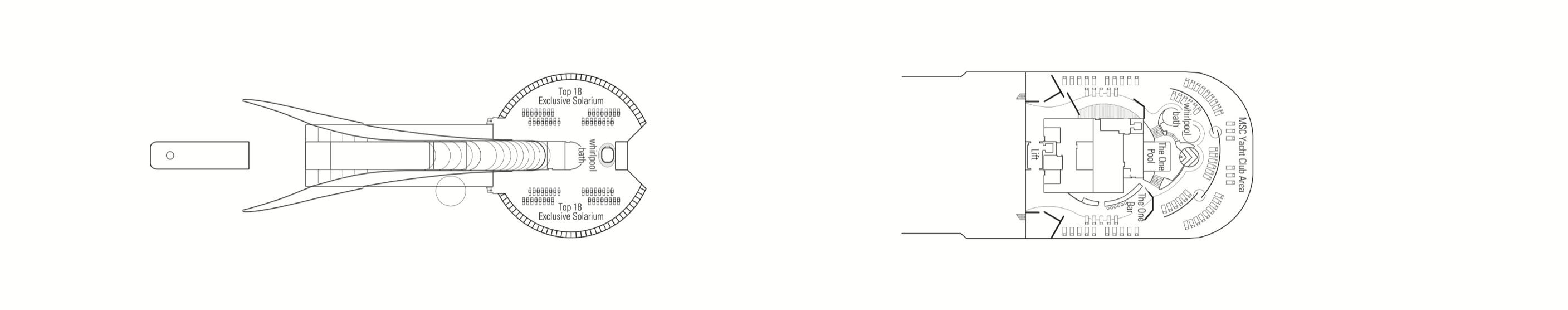 MSC Fantasia-deckplan-Deck 18 - Sun Deck