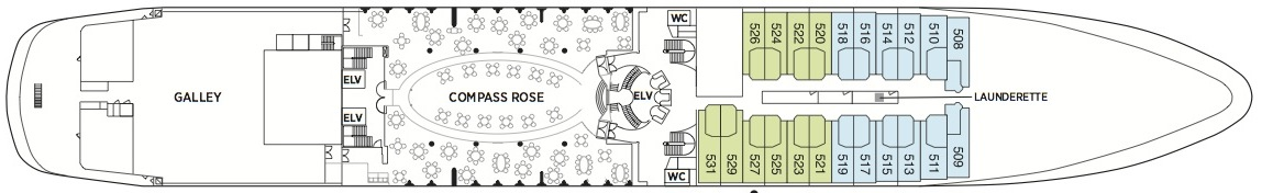 Seven Seas Navigator-deckplan-Deck Five