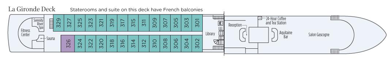 S.S. Bon Voyage-deckplan-La Gironde Deck