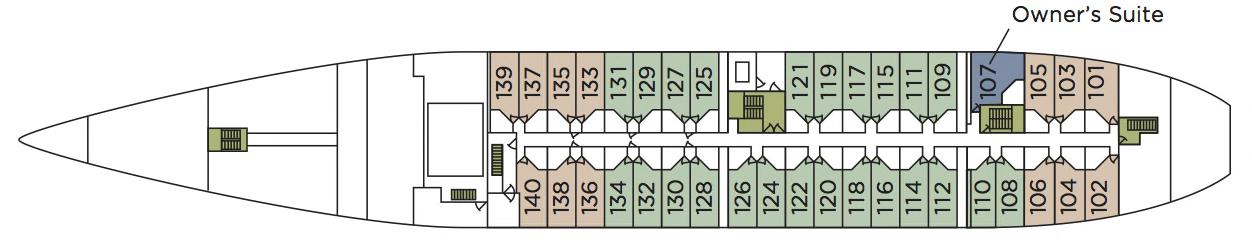 Wind Star-deckplan-Deck One