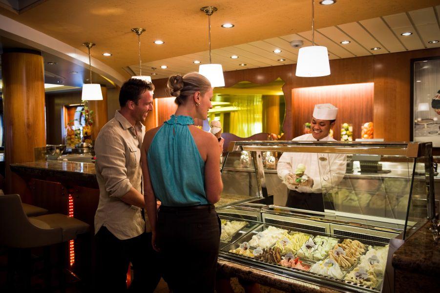 Celebrity Infinity-dining-Café al Bacio & Gelateria