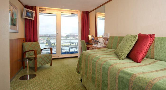 Boudicca-stateroom-Superior Single Balcony Cabin