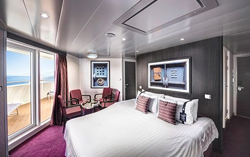 MSC Bellissima-stateroom-Suite with Angle Balcony