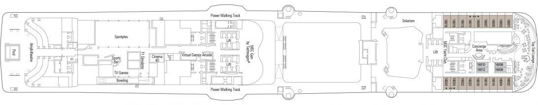 MSC Bellissima Deck 16
