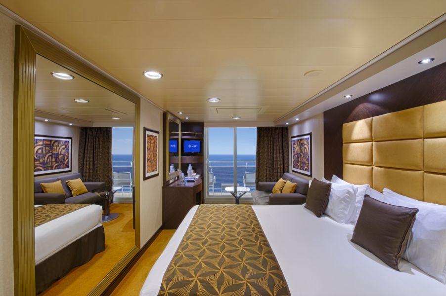 MSC Divina-stateroom-Balcony Cabin
