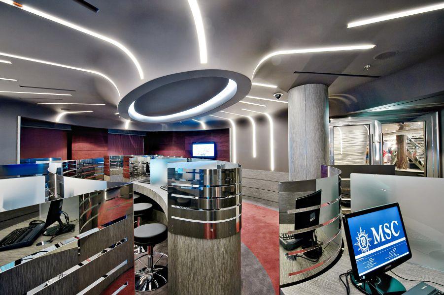 MSC Divina-entertaiment-Cyber Cafe