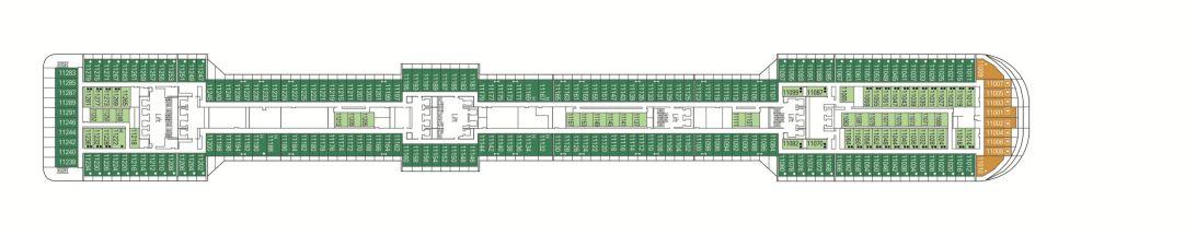 MSC Fantasia Deck 11 - Meraviglia