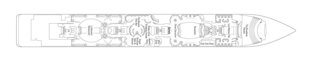 MSC Lirica Deck 5 - Verdi