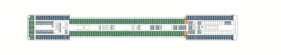 MSC Magnifica Deck 9 - Panarea