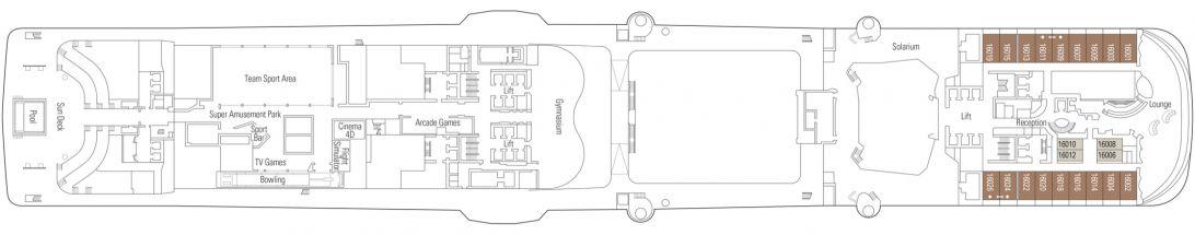 MSC Meraviglia Deck 16
