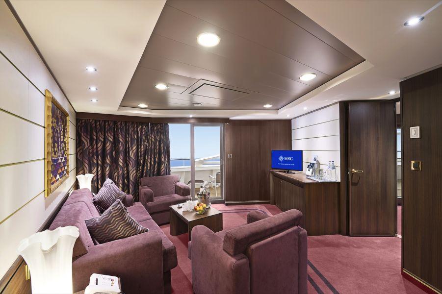 MSC Preziosa-stateroom-MSC Yacht Club Royal Suite