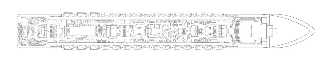 MSC Preziosa Deck 7 - Rubino