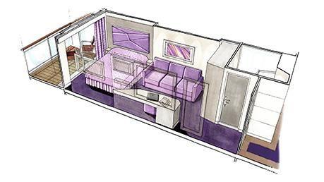 MSC Seaside-stateroom-Balcony Stateroom