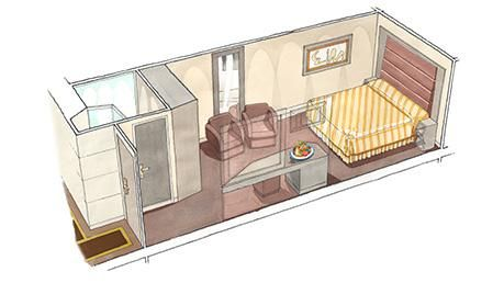 MSC Seaside-stateroom-MSC Yacht Club Inside Suite