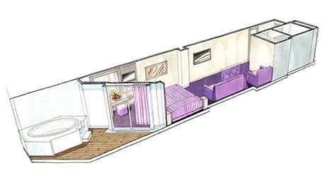 MSC Seaside-stateroom-Suite with Whirlpool Bath