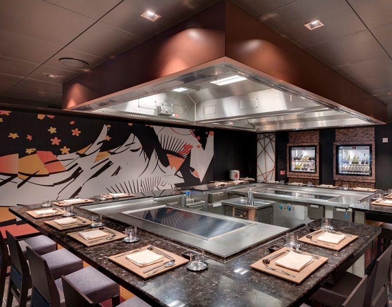 MSC Seaside-dining-Teppanyaki Restaurant by Roy Yamaguchi