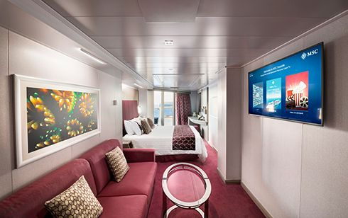 MSC Seaview-stateroom-Suite with Whirlpool Bath