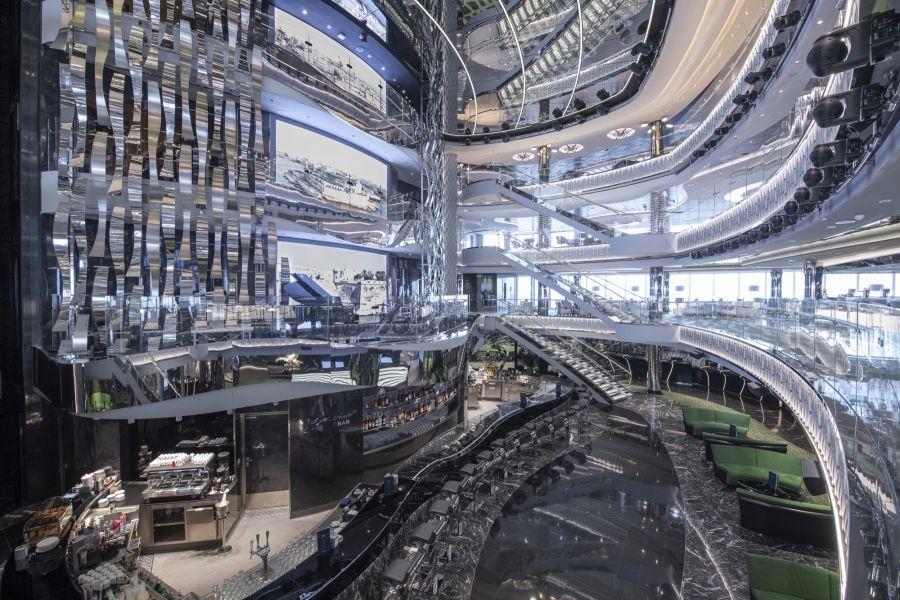 MSC Seaview-entertaiment-Four-Deck Atrium