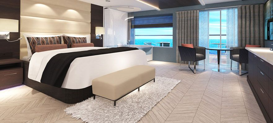 Norwegian Bliss-stateroom-The Haven Spa Suite with Balcony