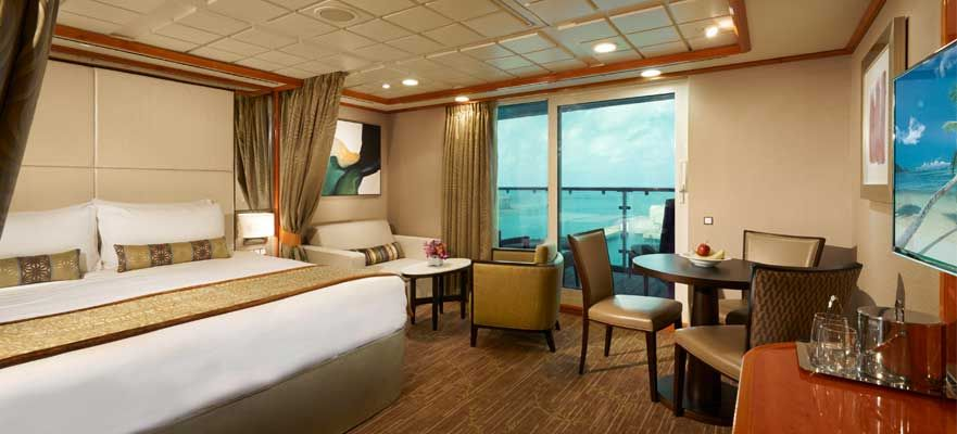 Norwegian Dawn-stateroom-Aft-Facing Penthouse with Large Balcony