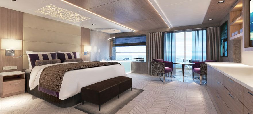Norwegian Encore-stateroom-The Haven Spa Suite with Balcony