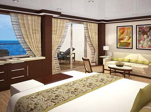 Pride of America-stateroom-Deluxe Penthouse with Large Balcony