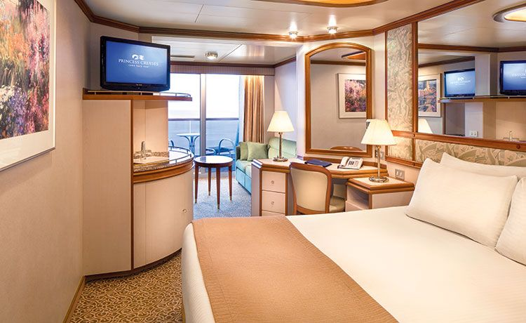 Crown Princess-stateroom-Mini-Suite with Balcony