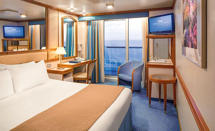 Crown Princess-stateroom-Premium Balcony