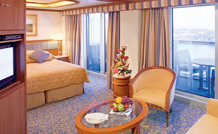 Crown Princess-stateroom-Suite with Balcony