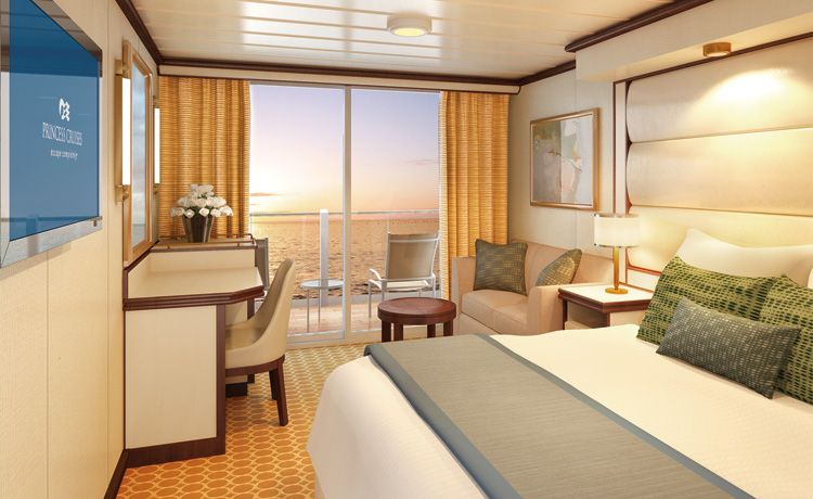 Royal Princess-stateroom-Deluxe Balcony Stateroom