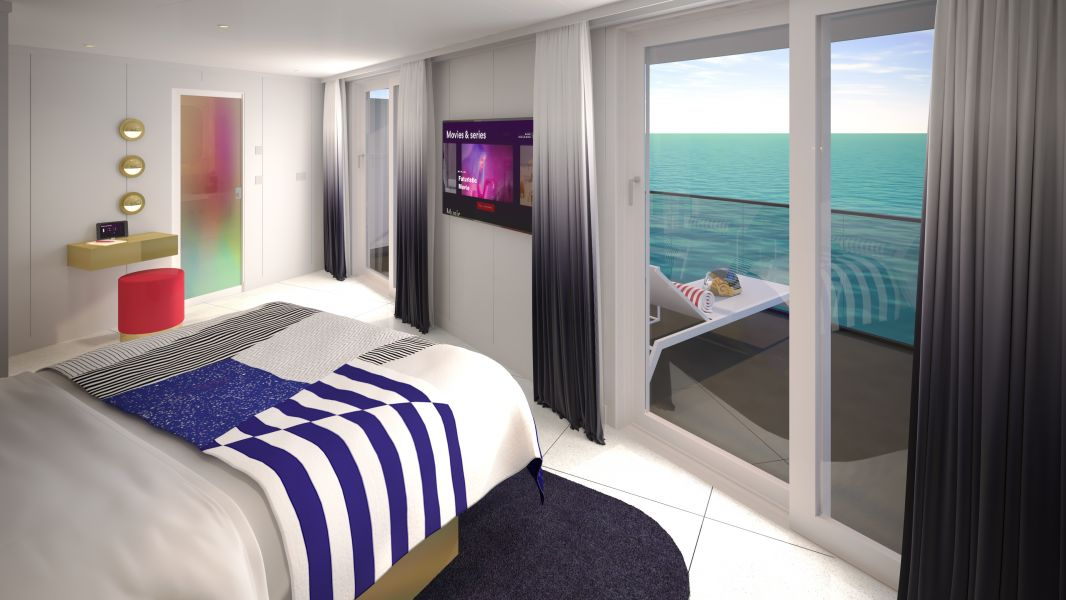 Scarlet Lady-stateroom-Cheeky Corner Suite - Biggest Terrace (SCB)